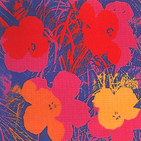 andy warhol flowers 1970 fs 66 with red pink and yellow flowers